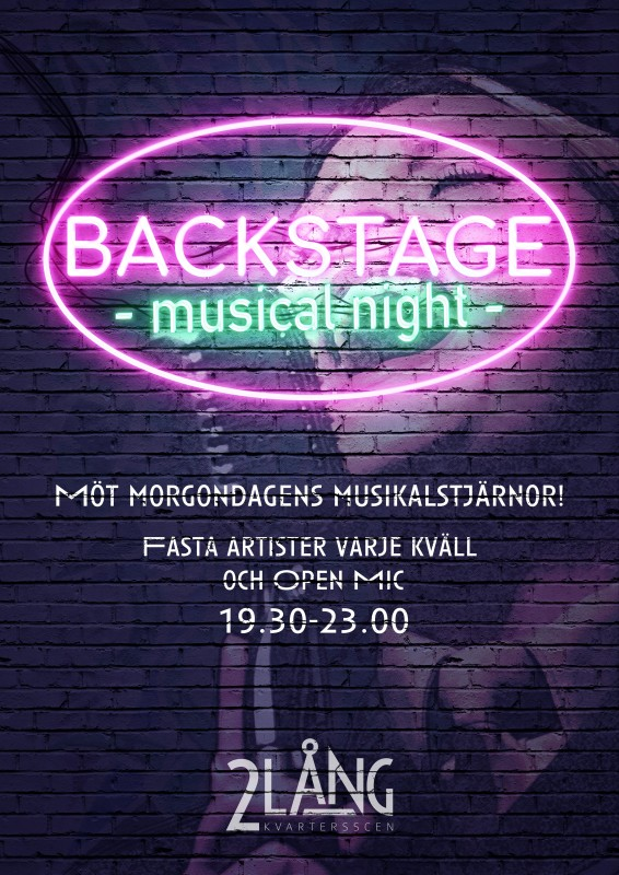 Backstage - musical night