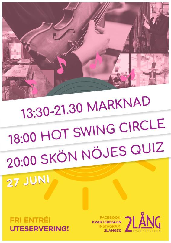 Sommar på 2lång - Marknad, Swing & Quiz 27/6