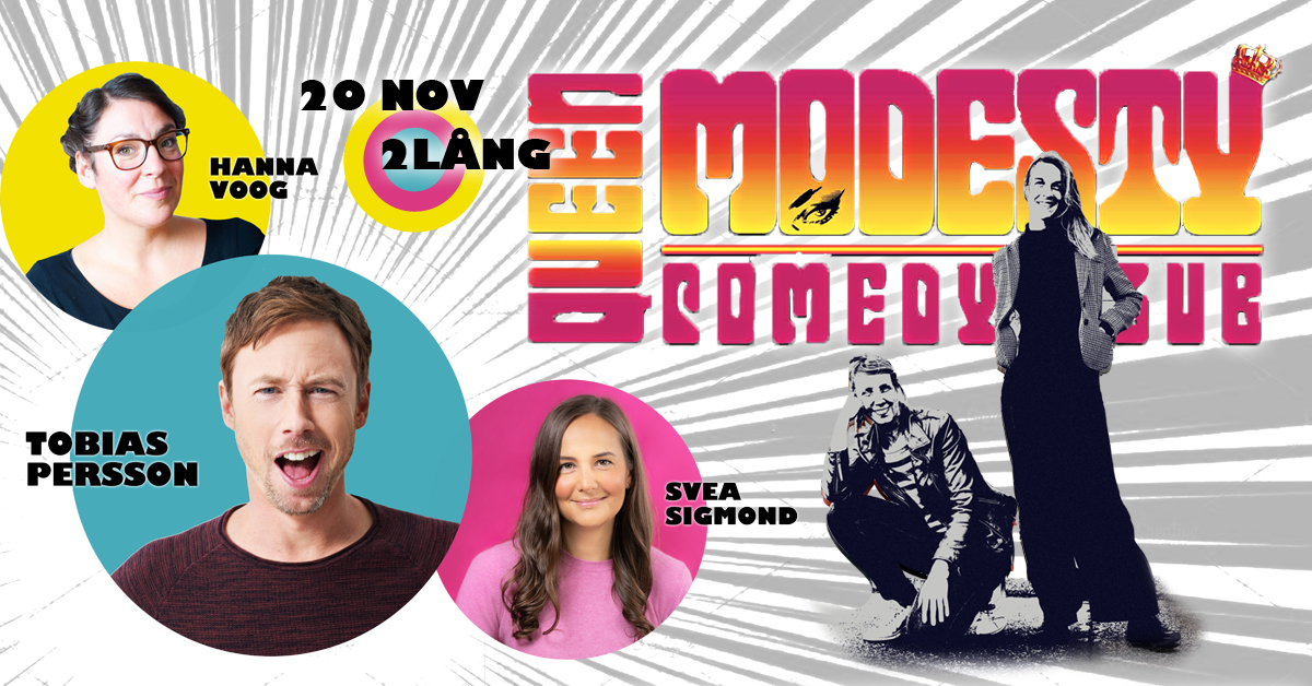 STANDUP PÅ 2LÅNG - Queen Modesty Comedy Club